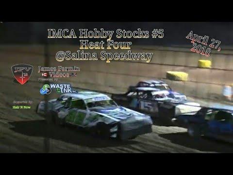 IMCA Hobby Stocks #5, Heat 4, Salina Speedway, 2018