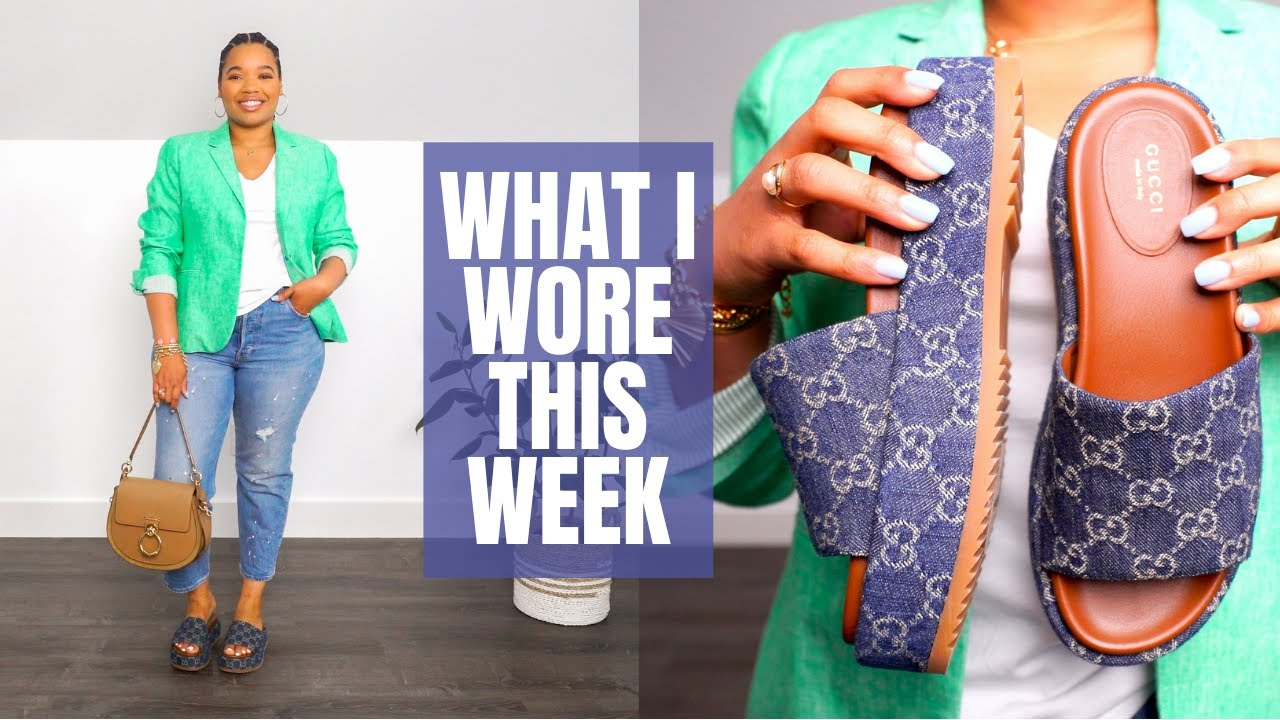 Styling Summer Blazers   What I Wore This Week #101   Jcrew, Chloe, YSL, Gucci, Coach