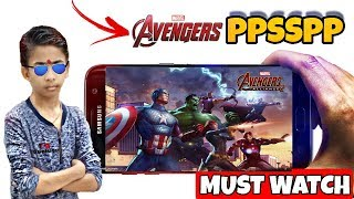 HOW TO DOWNLOAD MARVEL AVENGER GAME IN | PPSSPP IN ANDROID | GAMEPLAY PROOF | MUST WATCH!!