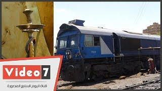 بالفيديو..كارثة بمحطة قطار الوسطى..الشيشة فى الصيانة والفرامل فى الشارع والوقود على الأرض