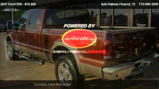 2007 ford f250 king ranch for sale in houston tx 77091