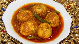 Bengali Style Dim Vuna | ডিম ভুনা রে‌সি‌পি | Dim Bhuna Recipe | Most Tasty Egg Curry Recipe
