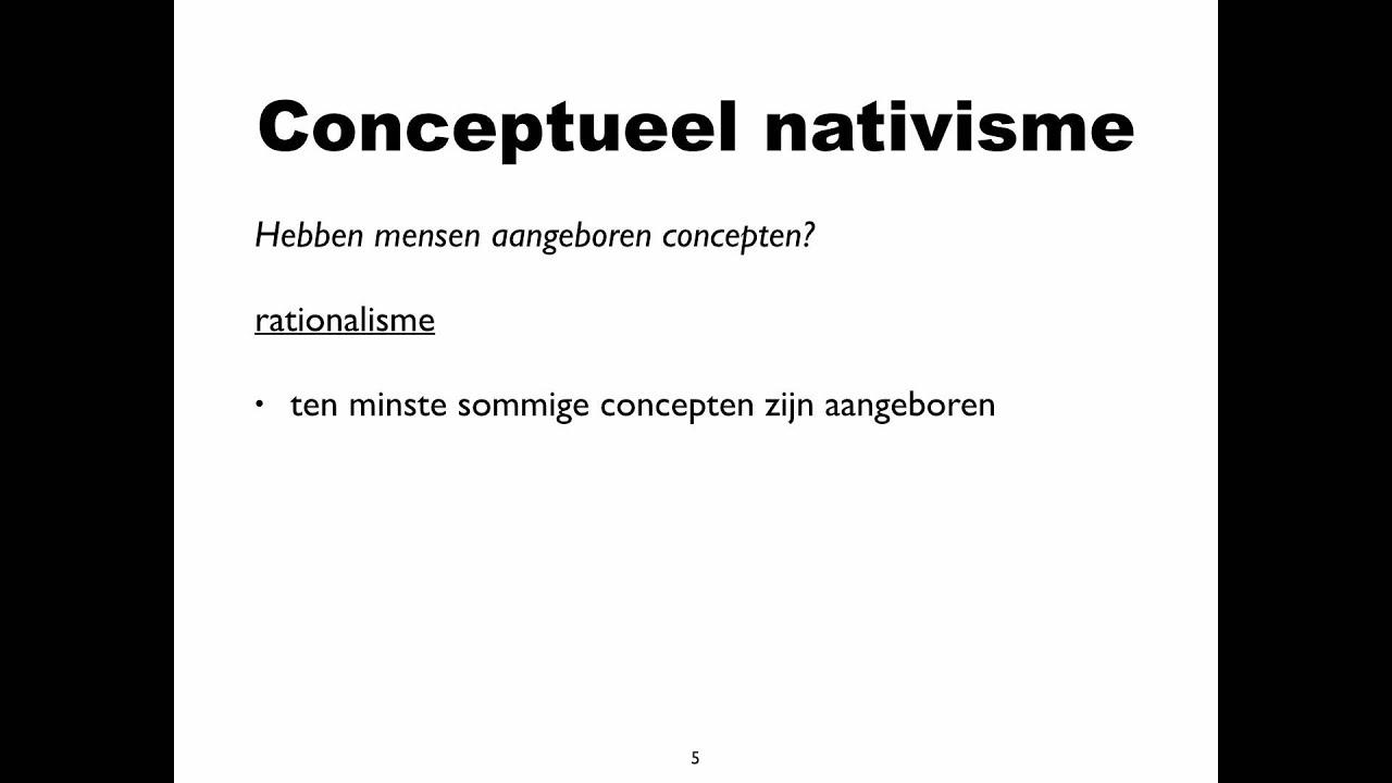 Rationalisme en empirisme - YouTube