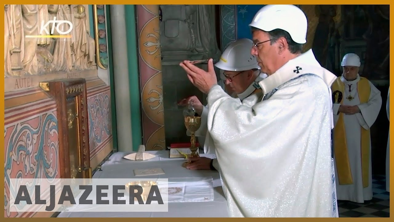 AlJazeera English:Very poignant': Notre Dame holds first mass since Paris fire