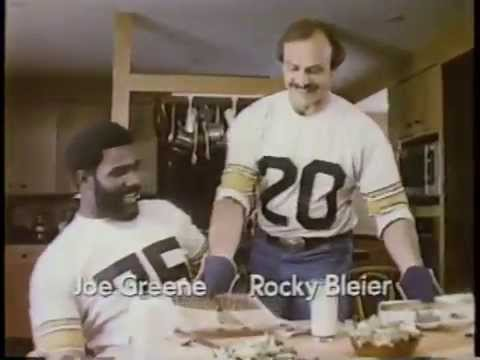 Mean Joe Greene & Rocky Bleier 1981 Swanson Hungry Man Dinner Commercial