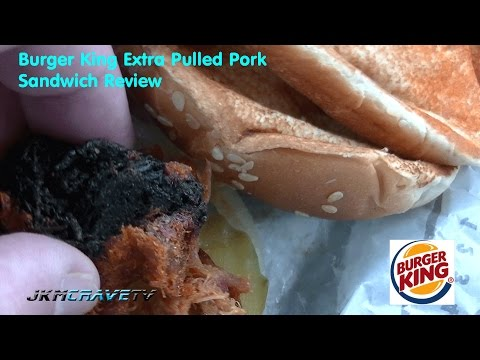 Burger King Extra Long Pulled Pork Sandwich Video Review