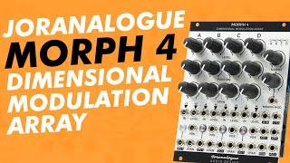 """Joranalogue MORPH 4 """"Dimensional Modulation Array"""" // a Eurorack morphing mixing modulating VCA hub"""