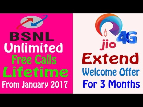 BSNL (Lifetime Free Calls) try to Beat Reliance Jio (Extend 3 Months More) When..?