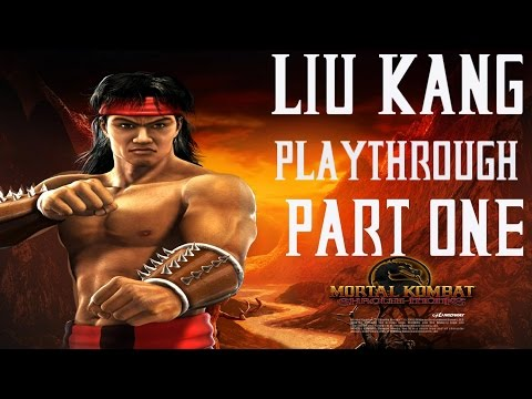 Mortal Kombat Shaolin Monks - Liu Kang Playthrough - Part 1 (Commentary)
