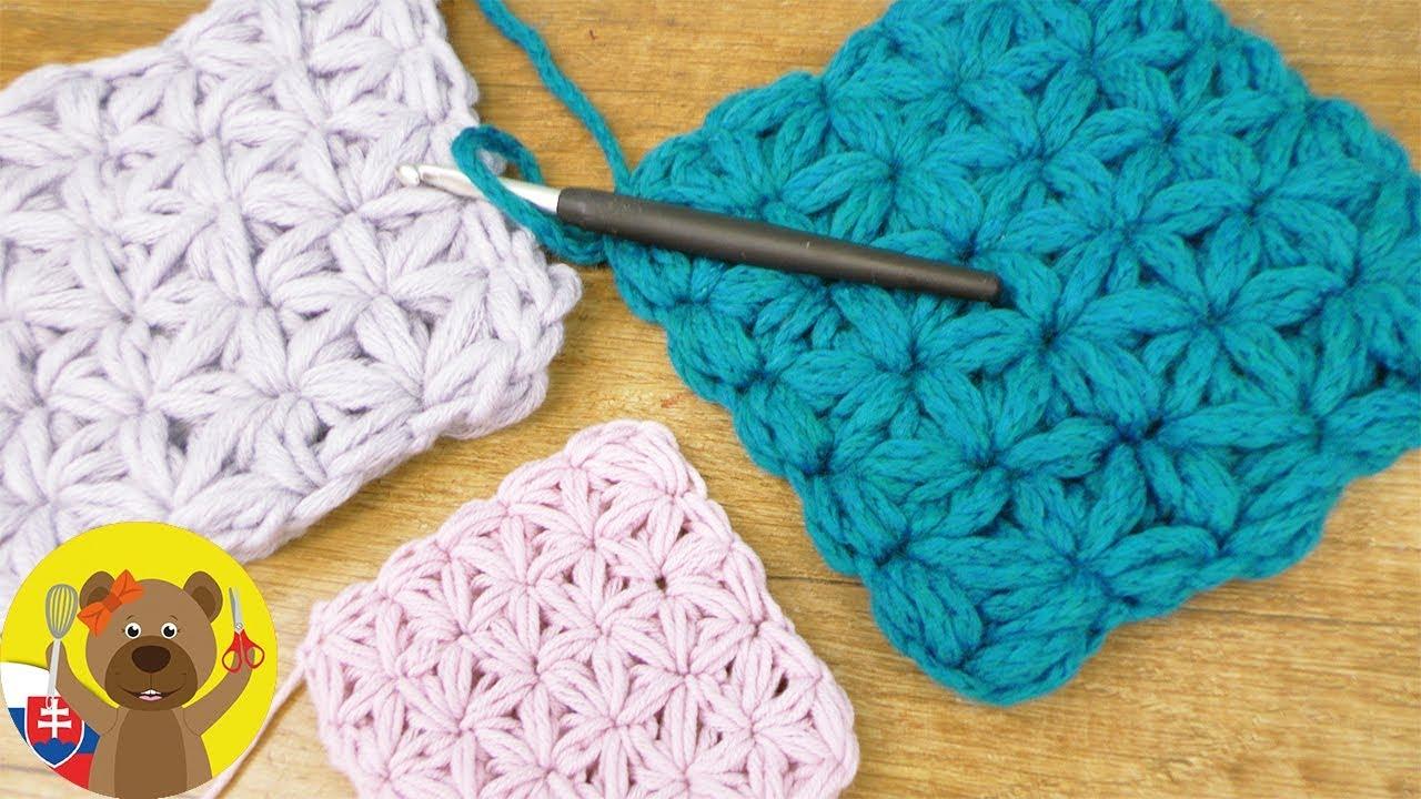 033cb2f033d Háčkované kvety vzory 🌼 | Hviezdičkový vzor | Háčkovanie pre začiatočníkov  vzory | Puff stitch vzor