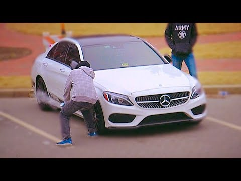 Slashing Car Tires Prank