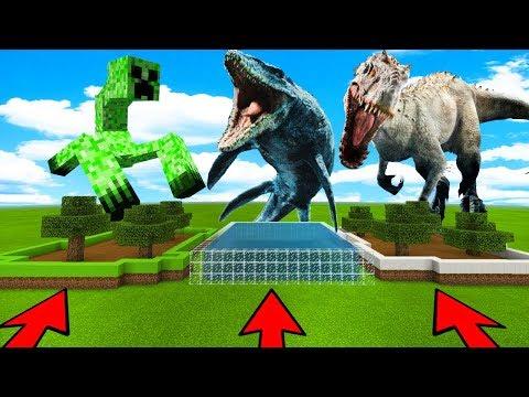 NO ELIJAS LA GRANJA INCORRECTA EN MINECRAFT 😱 (Mosasaurio, Indominus Rex, Creeper)