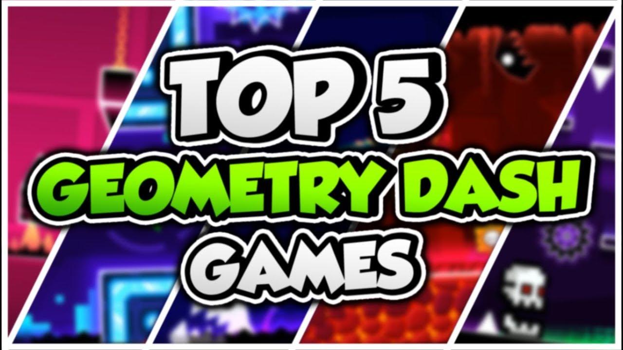 TOP 5 GEOMETRY DASH GAMES!!