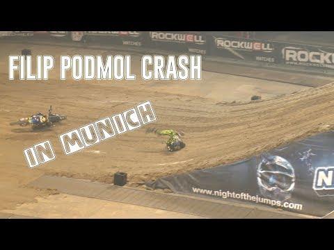 Filip Podmol - Crash at NIGHT of the JUMPs Munich 2017