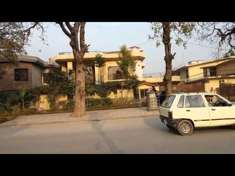 Rich peoples houses worth 1 to 5 million dollars in islamabad Pakistan / outside view.