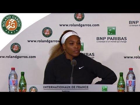 Press conference Serena Williams 2014 French Open R2