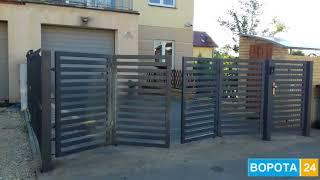 видео Ворота для ограждения территории