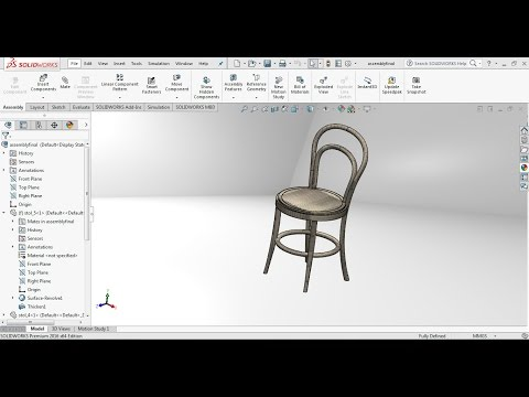 Solidworks tutorial   How to design a wooden chair in solidworks?