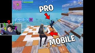 BEST FORTNITE MOBILE vs FORTNITE PC PRO for 100k V bucks.. (Fortnite Challenge)