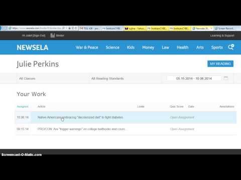 How to sign into a class on Newsela.com