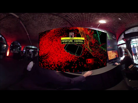 1st Augmented 3D 360° Interactive VR video with 3D VR gameplay embedded in it : EGX Rezzed 2017