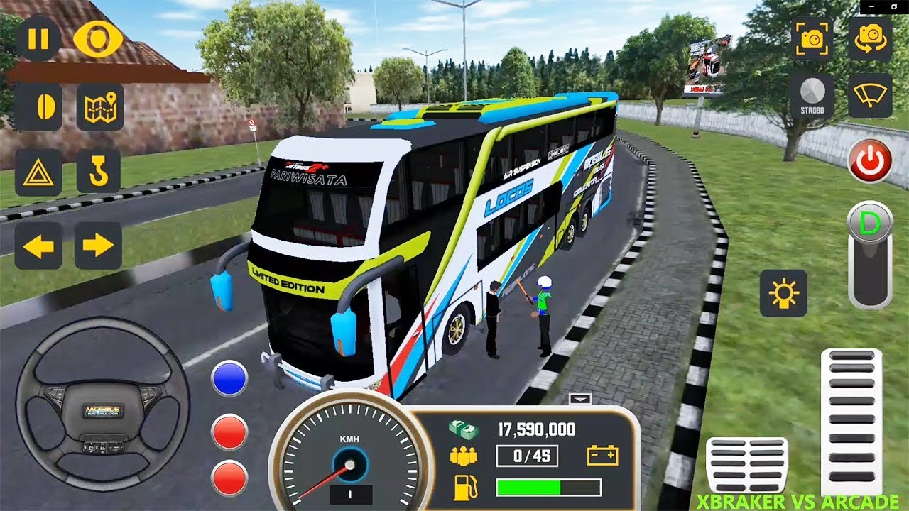 Mobile Bus Simulator: Bus Driving Game STOP by POLICE MAN - Android gameplay HD