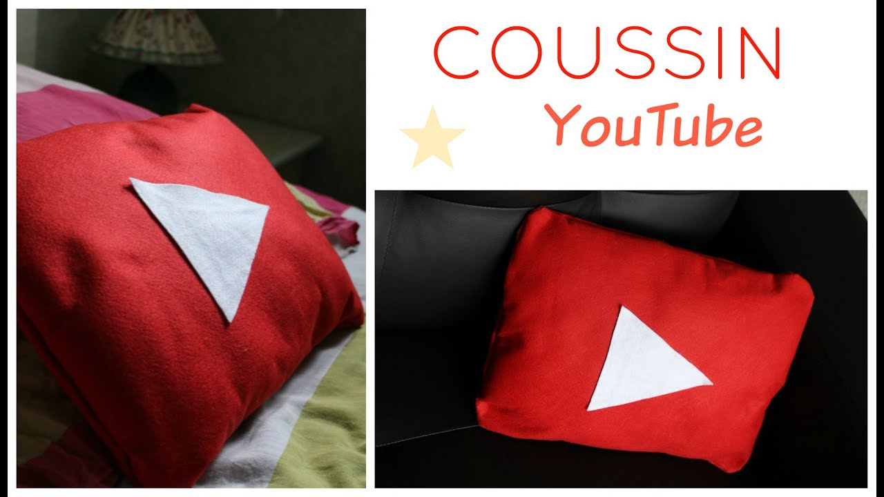 tuto coussin logo youtube sans couture youtube pillow no sew youtube. Black Bedroom Furniture Sets. Home Design Ideas