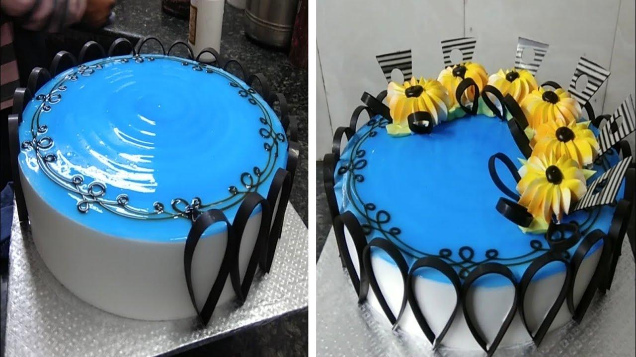 Vanilla Birthday Cake Design |Simple Birthday Cake |Chocolate And Flowers Cake Design
