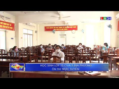 Long An: Học sinh lớp 12 của 5 địa phương ôn thi trực tuyến | LONG AN TV