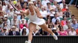 Wimbledon: Sabine Lisicki talks to the media after Wimbledon 2013 final