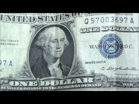 BEST $1 FIND EVER bank strap hunting reveals $1 SILVER CERTIFICATE ...