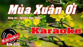 [ Karaoke ] Mùa Xuân Ơi ( Beat Chuẩn Cực Hay )