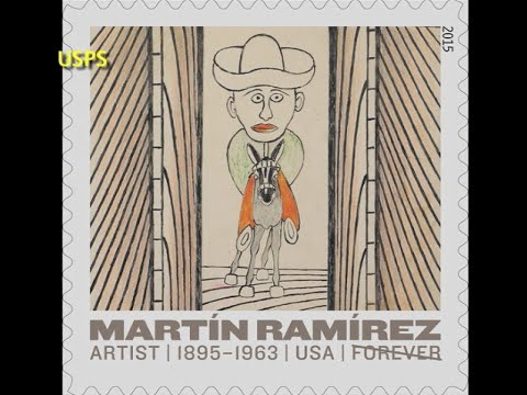 USPS Unveils Martin Ramirez Art on Forever Stamps at Ricco-Maresca Gallery