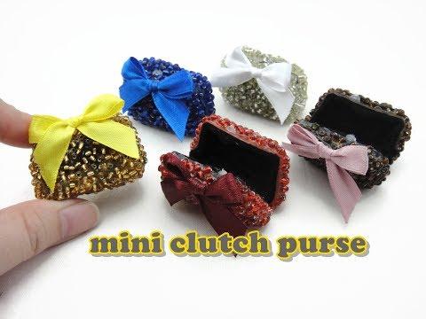DIY Doll Accessories Mini Clutch Purse - Easy