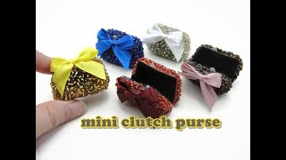 DIY Doll Accessories Mini Clutch Purse - Easy