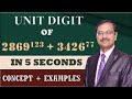 Trick 46 - Find UNITS DIGIT of Large Calculations