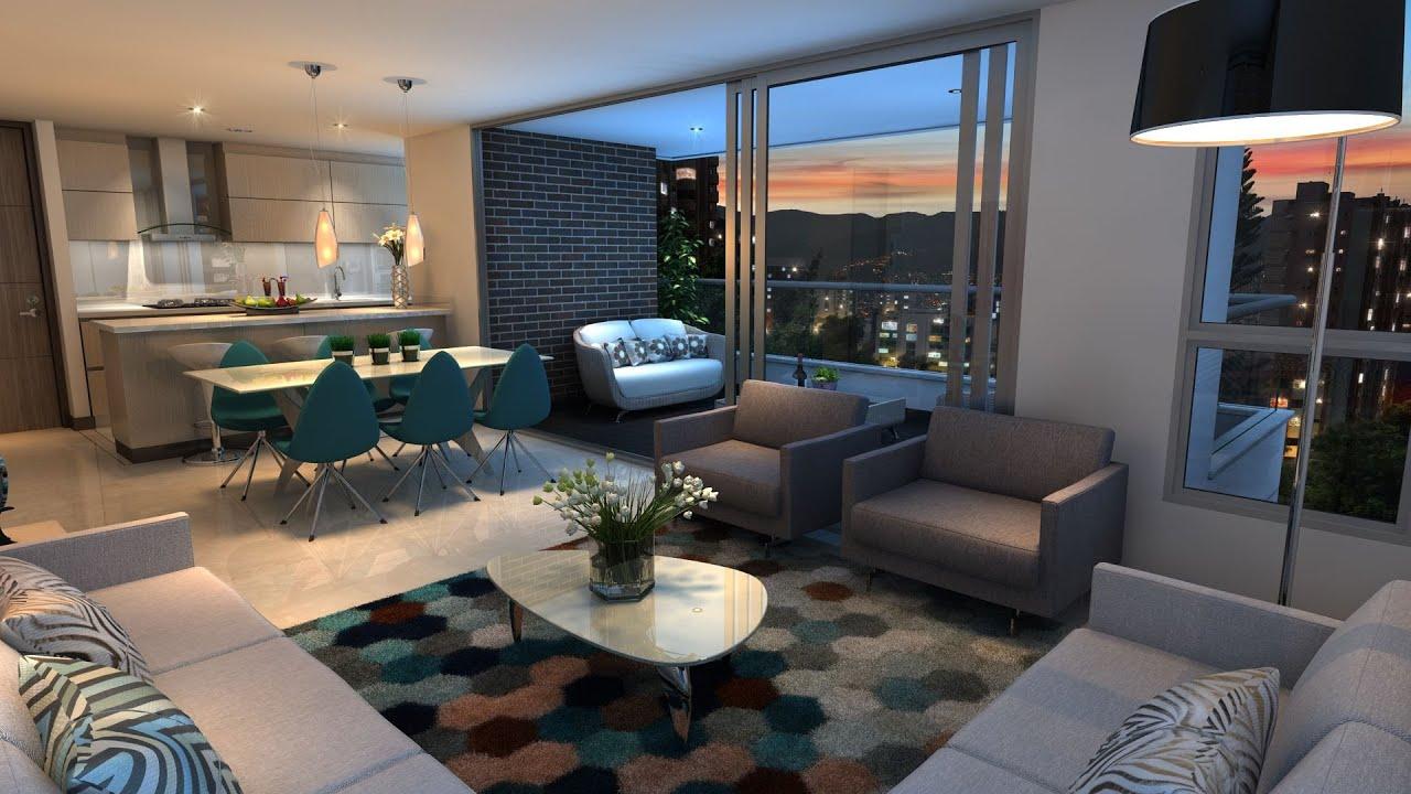 Apartamentos en medell n proyecto san charbel youtube for Apartamentos minimalistas