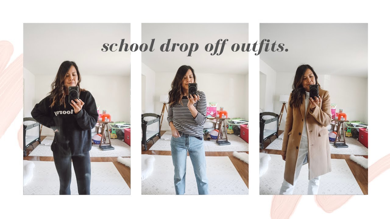 [VIDEO] - WHAT TO WEAR FOR SCHOOL DROP OFF | CASUAL MOM OUTFITS FOR COLD WEATHER 9