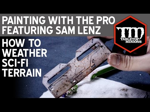 How to Weather Sci-Fi Terrain - Painting With the Pro