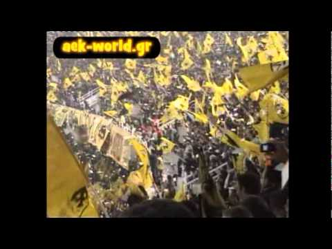 AEK Athens 70.000 awesome fans at OAKA stadium Greece