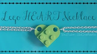 Lego Heart Necklace - How To - BFF // Friendship Jewelry