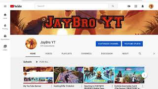 How I made my YouTube Banner