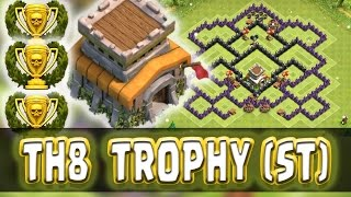 "Clash Of Clans | ""INSANE"" TOWN HALL 8 SOUTHERN TEASER TROPHY BASE"" 