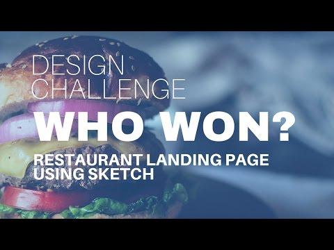 Web Design Battle - Designing a Restaurant Website with Sketch App