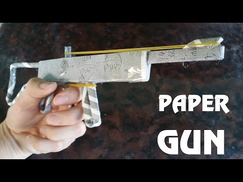 How to make a Powerful Paper Gun that...