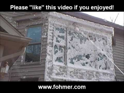 How to clean an outside exterior window