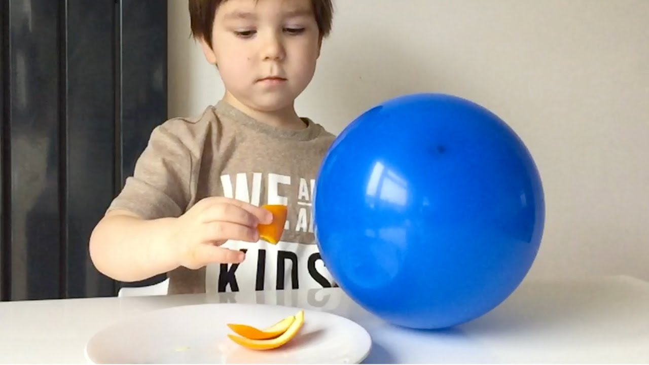 how to pop balloons with an orange peel youtube. Black Bedroom Furniture Sets. Home Design Ideas