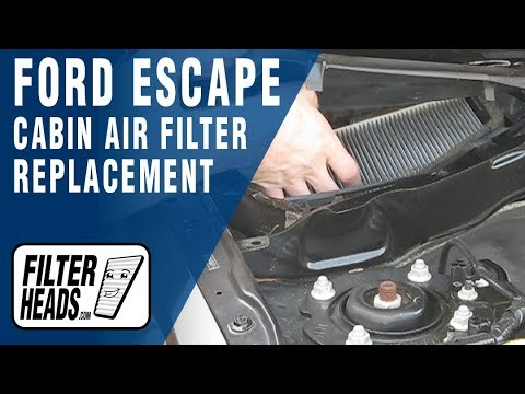 How To Replace Cabin Air Filter 2008 Ford Escape You Horn Location