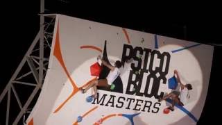 Jan Hojer vs. Nathaniel Coleman in the final round of Psicobloc Masters 2016