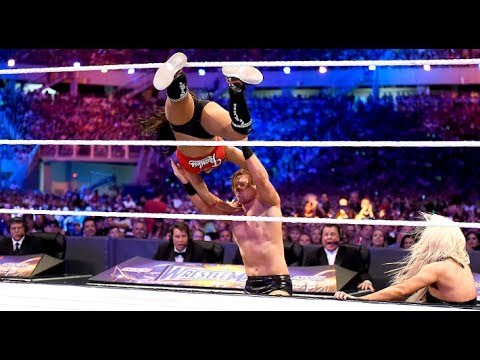 John Cena & Nikki Bella vs The Miz & Maryse Full Match- WWE Wrestlemania Full Show 2017 HD